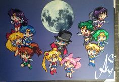 Radical Perler Art : Sailor Moon and the Sailor Scouts
