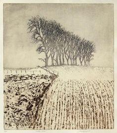 Winter Dusk, 2008, John Heywood, etching, image size 56 x 49 cm., paper size 69 x 60 cm., Edinburgh, Scotland.