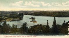 A postcard view of Crystal Lake from Hart's Hill, postmarked 1906 - Via Lucius Beebe Memorial Library