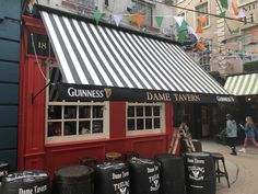 ie Old style drop arm awning Dame Tavern Beer Garden, Guinness, Canopy, Blinds, Arm, Outdoor Decor, Home Decor, Style, Swag