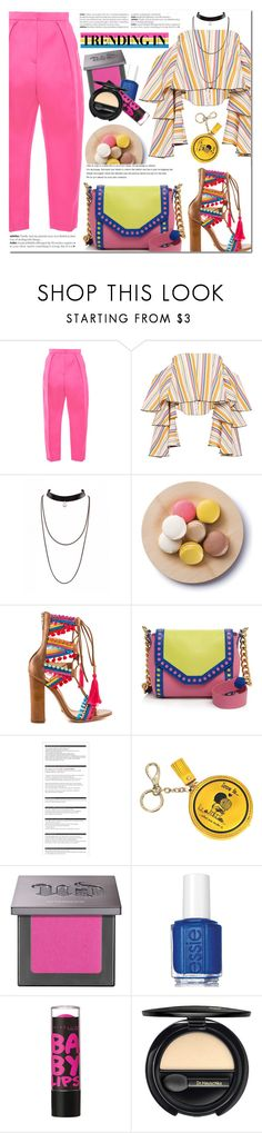 """7.7.16"" by bibibaubau ❤ liked on Polyvore featuring Maison Rabih Kayrouz, Caroline Constas, Cultural Intrigue, Schutz, Boutique Moschino, Arche, Anya Hindmarch, Urban Decay, Essie and Maybelline"