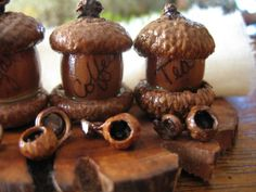 Fairy House    Acorn Canister Set  Fairy World by CoyoteWoodWorks, $19.95