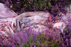 """""""Gammelyn's Daughter a Waking Dream"""" image from """"Wonderland"""" by photographer Kirsty Mitchell and makeup artist Elbie Van Eeden Surrealism Photography, Fine Art Photography, Portrait Photography, Fashion Photography, Fantasy Photography, Magical Photography, Conceptual Photography, Beauty Photography, Creative Photography"""