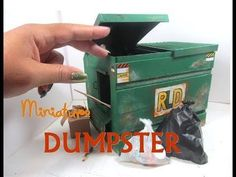 (31) DIY Commercial Dumpster Trash Dollhouse Miniature Wooden Dollhouse Furniture - YouTube