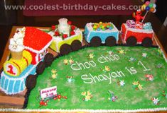 Easy to Make Train Cake | Easy Train Cake Ideas http://www.coolest-birthday-cakes.com/train ...