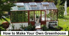 How to Make Your Own Greenhouse – reThinkSurvival.com Pallet Greenhouse, Greenhouse Cover, Large Greenhouse, Build A Greenhouse, Greenhouse Ideas, Greenhouse Wedding, Indoor Greenhouse, Indoor Garden, Wooden Greenhouses