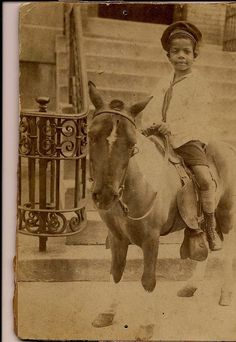 Post with 72 views. My Great Grandfather in 1920 Vintage Children Photos, Vintage Pictures, Old Pictures, Animal Pictures, Asian History, African American History, Black Cowboys, Pony Rides, Vintage Black Glamour