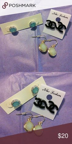 All Brand New Set of 3 Fashion Earrings All 3 sets are brand new and never worn   No brand affiliation for any pair   NO TRADES & PRICE IS FIRM!! Jewelry