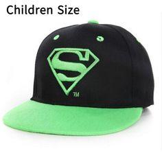 Superman Cartoon Snapback Caps Adult   Child Baseball Hat Bone For Boys  Girls Hip Hop Caps Kids Summer Hats Fashion Sun Hat af4fa161c37e