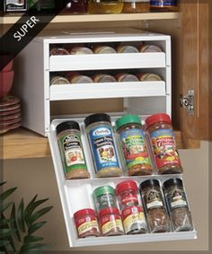 I got so tired of trying to search cupboard for spices. Perfection for us shorties who can't really even see what is on second shelf haha