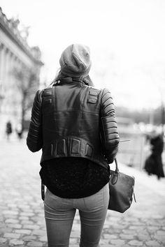 Street style en Paris Fashion Week (Feb 2013) Look con perfecto