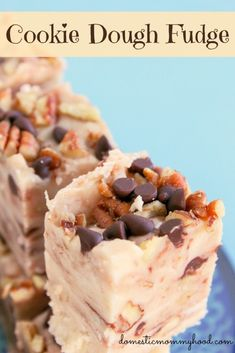 Cookie Dough Fudge with Chocolate Chips and Pecan
