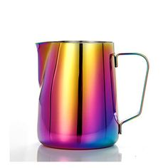 300ml Stainless Steel Milk Frother Pitcher, Cappuccino Latte Frothing Pitcher Jug, Colourful