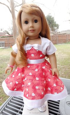 1950's Style Valentines Day Dress for AG Maryellen by Designed4Dolls on Etsy  $22.95