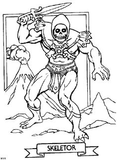 skeletor coloring page he man and the masters of the universe pinterest universe