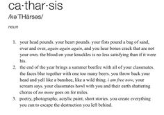 catharsis- definition poem @becklemania