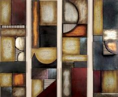 Make your walls interesting with Sofia Abstract Metal Wall Art