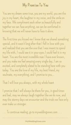 Wedding quotes and sayings vows i promise 51 Ideas Soulmate Love Quotes, Cute Love Quotes, Romantic Love Quotes, Love Quotes For Him, Quotes For Fiance, Promise Quotes, My Promise To You, Marry Me Quotes, Future Husband Quotes