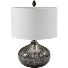 Black Mercury Glass Table Lamp design by Lazy Susan ($267) ❤ liked on Polyvore featuring home, lighting, table lamps, lamps, onyx lamp, mercury glass lamp, black lamp, mercury glass lighting and black table lamps