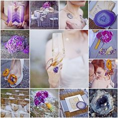 Lovely Purple wedding inspiration ~ love the cake and the flowers!