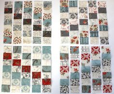 """It happened this week that I needed a large panel (20 by 7) of randomised 1.5"""" patchwork squares - as you do?! I read about this great techn..."""