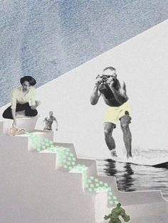 "Saatchi Art Artist Jaume Serra Cantallops; Collage, ""Surf & Hulk. Limited Edition Print 2 of 20"" #art"