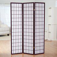 Simora Rosewood Shoji 3 Panel Room Divider