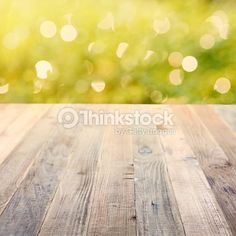 Stock-Foto : Spring rustic background with green bokeh