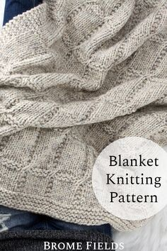 Easy Knitting, Knitting Patterns Free, Knitting Yarn, Knitted Afghans, Knitted Blankets, Knit Basket, How To Purl Knit, Knitting Accessories, Yarn Crafts