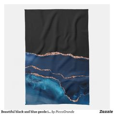 Beautiful black and blue geode inspired kitchen towel Blue Geode, Pastel Grey, Animal Skulls, White Shop, Kitchen Towels, Pink And Green, Looks Great, Mothers, Best Gifts