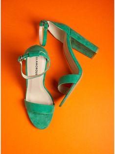 Glamorous Heel Sandals-Green - Πέδιλα - Υποδηματα - Γυναίκα Kai, Glamour, Heels, Spring Summer, Shopping, Products, Fashion, Heel, Moda