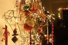 Christmas Tree made of repurposed lamp shades...LOVE!!