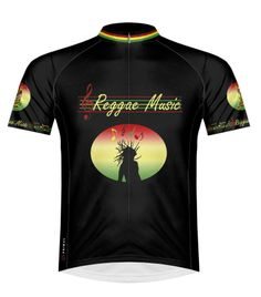 SALE New mens designer cycling cycle jersey shirt top with reggae rasta flashes