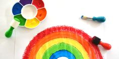Stuff for Painting Rainbows Art Activities For Kids, Creative Play, Rainbows, Fun Crafts, Stationery, Birthday, Blog, Painting, Fun Diy Crafts
