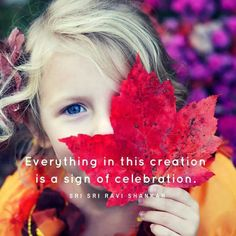 Everything in this creation is a sign of celebration. ~ Sri Sri Ravi Shankar