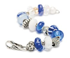 Although December has passed, the Inspiration Bracelet full of whites and blues can continue to inspire throughout the season!  www.shoptouche.com // (607) 723-4043