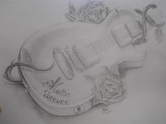 Original pencil drawing **guitar music forever** for sale in Drawing Eyes, Drawing Sketches, Pencil Drawings, Hipster Drawings, Music Illustration, Fantasy Concept Art, Chicken And Shrimp Recipes, Modern Art Prints, Healthy Dinner Recipes