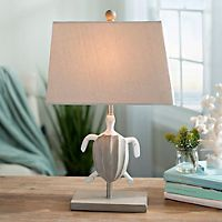Brown sea turtle table lamp turtle table coastal and lamp table mozeypictures Gallery