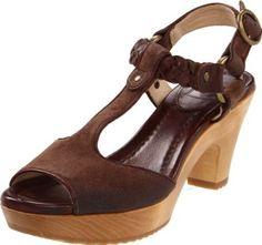Amazon.com: FRYE Women's Stephanie T-Strap Sandal, Dark Brown, 7.5 M US: Shoes