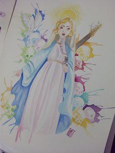 By: Pajarita Amarilla Acuarela y tinta china A3