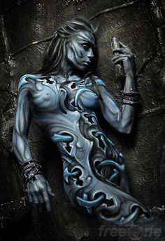 body painting by Evgeny Freeone