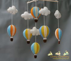 Love it--Of course it's from Thailand.    Miami baby mobile - vintage sky baby mobile - sunset sky baby mobile. $70.00, via Etsy.