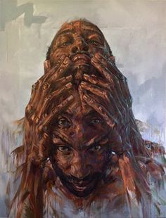 Drawings and paintings by artist David Theron. Found via the April Reader Submissions post. More images below. David Theron's Website Psychedelic Art, Distortion Art, Mental Health Art, Art Alevel, Psy Art, Arte Horror, High Art, Deviant Art, Portrait Art