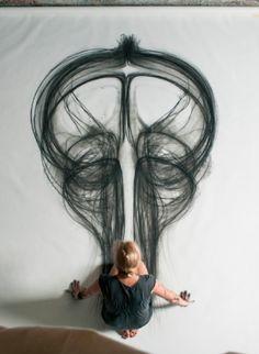 Emptied Gestures | kinetic drawing | Heather Hansen