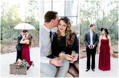 Check out this timeless engagement photography shoot with 1940's inspired details drawn from classic film styling.