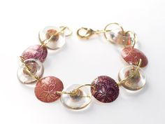 GOTTA TRY THIS!!!  Bracelet Lampwork Glass Handmade Jewelry Disc Bead by susansheehan,