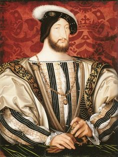 Francois I, King of France by Jean Clouet, c.1520-25. (Musee du Lourvre)