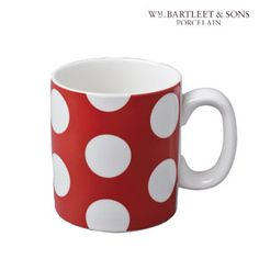 Red Dotty 0.7 Pint Mug