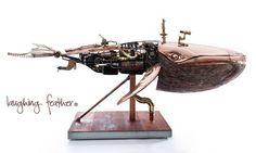 12' L x 8' W x 5' H Steampunk whale by Troy Morrison