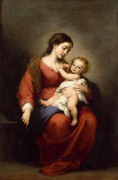 Bartolomé Estebán Murillo (Spanish,1617–1682). Virgin and Child, ca. 1670–72. The Metropolitan Museum of Art, New York. Rogers Fund, 1943 (43.13) | The popularity of Murillo's paintings of the Madonna and Child derives from his ability to endow a timeworn theme with qualities of intimacy and sweetness.